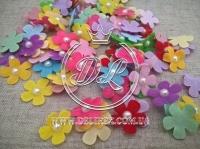 Цветок с полубусиной -МИКС