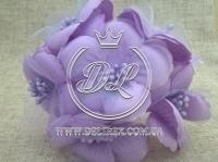 Цветок с органзой TF 975 , сиреневый