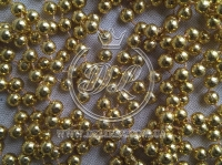 Новогодние бусы 8 мм, золото