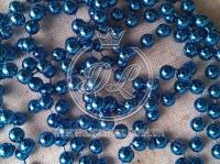 Новогодние бусы 8 мм, синие