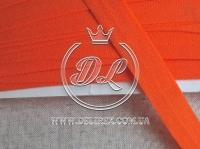 Косая бейка стрейчевая 2 см, оранжевая