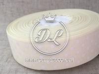 Репс в Горох 4 см, молочный 008