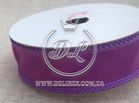 Лента капрон-перламутр 2.5 см, темно-фиолетовая