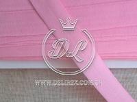 Косая бейка стрейч 2 см, розовая