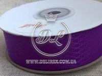 Атлас в ромбик 2.5 см, темно-фиолетовый