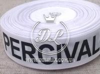 Репс 2.5 см надпись ELOT&PERCIVAL ,на белом