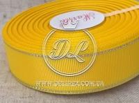 Репс с люрексом 2.5 см (серебро), желтый