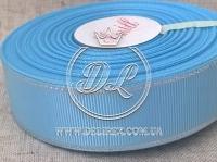 Репс с люрексом 2.5 см (серебро), голубой