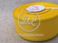 Репс с люрексом 4 см (золото),  желтый