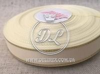 Репс с люрексом 1.5 см (золото), молочный