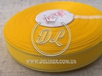 Репс с люрексом 1.5 см (серебро), желтый