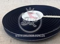 Репс с люрексом 0.9 см (серебро), чернильный