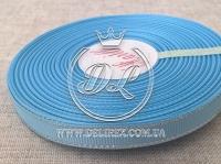 Репс с люрексом 0.9 см (серебро), голубой