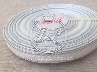 Репс с люрексом 0.9 см (серебро),белый