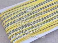 Бейка  1.5 см, желтая+ серые треугольники