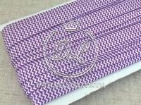 Бейка  1.5 см, фиолетовый шеврон