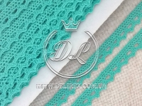 Кружево вязаное 1.1 см, мятное