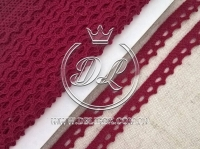 Кружево вязаное 1.1 см, вишнёвое