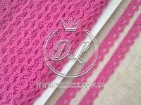 Кружево вязаное 1.1 см, яр.розовое