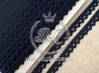 Кружево вязаное 1.1 см, чорнильное