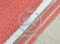 Кружево вязаное 1.1 см, оранжевое