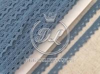 Кружево вязаное 1.1 см, грязно-синее