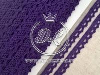 Кружево вязаное 1.1 см, темно-фиолетовое