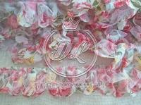 Лента Бант -цветок, яр.розовая