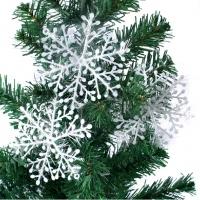 Новогодние снежинки с дождиком