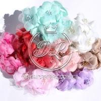 Цветок с органзой TF975