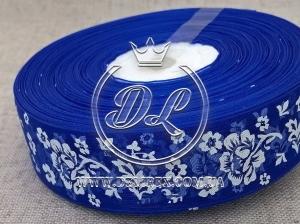 """Органза 4 см """"Пион"""", темно-синяя"""