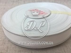 Репс с люрексом 1.5 см (серебро), белый