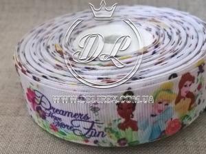 Репс 2.5 см принцессы  Dreamers на белом