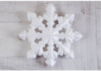 Пенопластовая снежинка 3 D- ( большая 19,5 см)  - 3 шт.