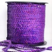 Пайетки на нитке , темно-фиолетовая (перламутр
