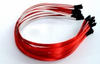 Обруч метал в атласе , красный