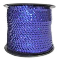 Пайетки на нитке , фиолетовая (перламутр)