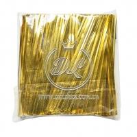 Проволочные завязки 12 см Twist tie, золото