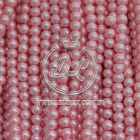 Жемчуг на леске 8 мм, розовый