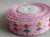 Репс 2.5 см , Балерина на розовом