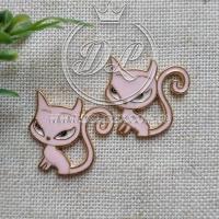 С-ка метал Кошка длинный хвост , розовая