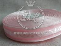 """Органза  2 см """"Орнамент"""", розовая"""
