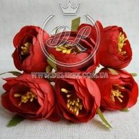 Пионы с тычинками, красные № 29