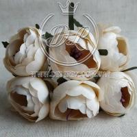 Пионы с тычинками, молочно-кремовый (малин.тычинка) №43...