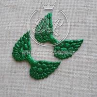 """Апликации """"Крылья"""", зелёные  -100 шт."""