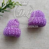 Шапочки мини 4 см, фиолетовые ( 20 шт.)