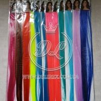 Пряди для волос Микс цветной однотоннный № 1
