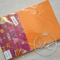 Набор 2 мм  фоамирана, оранжевый