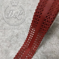 Репс 3.5 см, Дорожка перфорированная, бордовая
