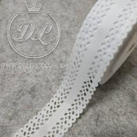 Репс 3.5 см, Дорожка перфорированная, белая
